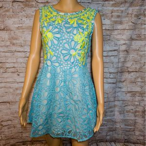 English Rose Embroidered Dress Size S
